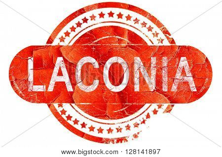laconia, vintage old stamp with rough lines and edges