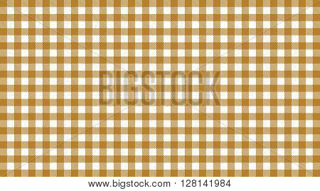 Vintage Tablecloth background checkered brown and white