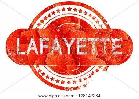 lafayette, vintage old stamp with rough lines and edges