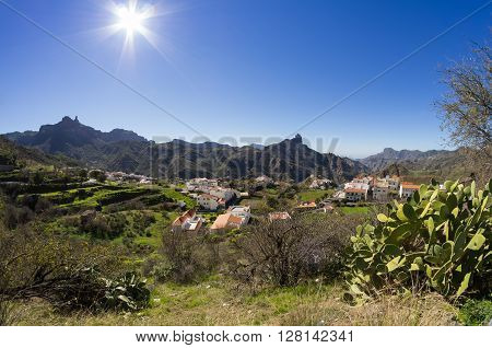 The mountain village of Tejeda in the centre of Gran Canaria Canary islands Spain