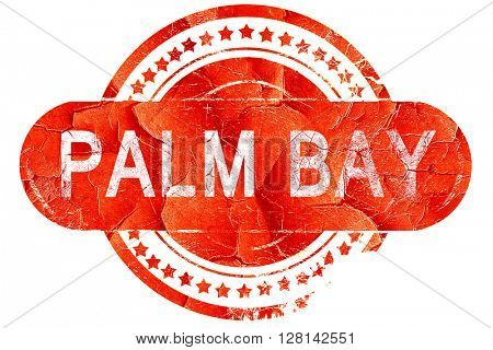 palm bay, vintage old stamp with rough lines and edges