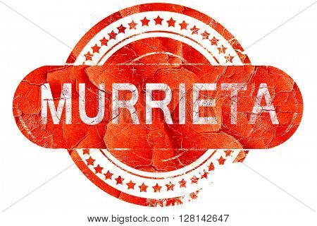 murrieta, vintage old stamp with rough lines and edges