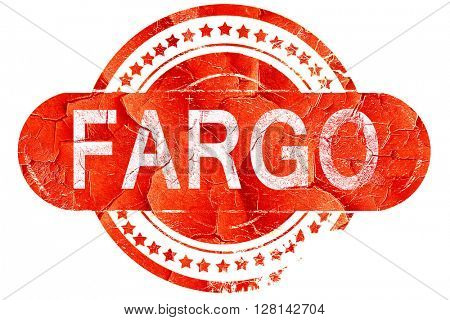 fargo, vintage old stamp with rough lines and edges