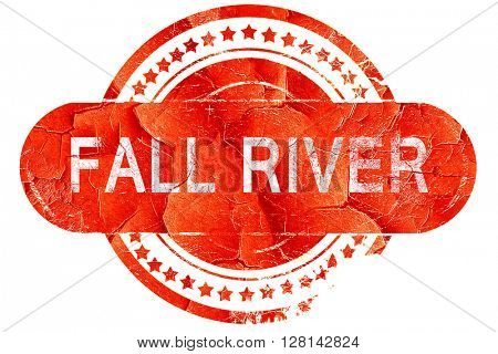 fall river, vintage old stamp with rough lines and edges