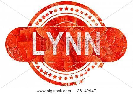 lynn, vintage old stamp with rough lines and edges