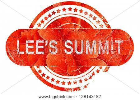 lee's summit, vintage old stamp with rough lines and edges
