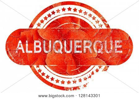 albuquerque, vintage old stamp with rough lines and edges