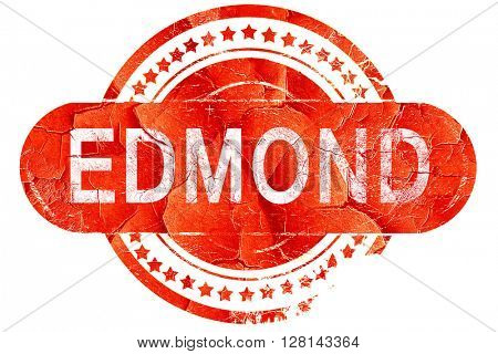 edmond, vintage old stamp with rough lines and edges