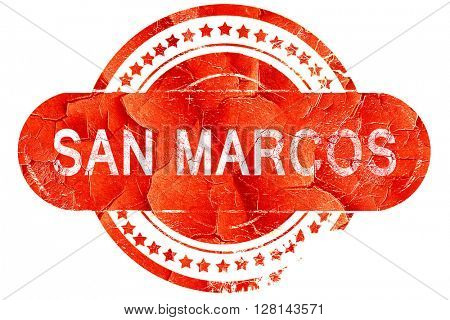 san marcos, vintage old stamp with rough lines and edges