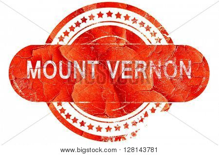 mount vernon, vintage old stamp with rough lines and edges