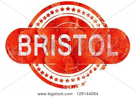 bristol, vintage old stamp with rough lines and edges