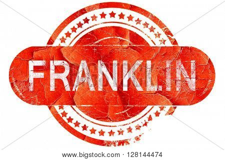 franklin, vintage old stamp with rough lines and edges