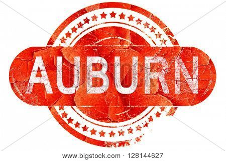 auburn, vintage old stamp with rough lines and edges