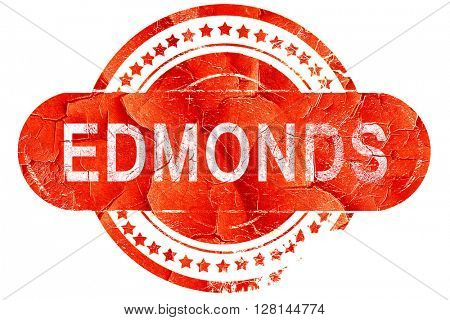 edmonds, vintage old stamp with rough lines and edges