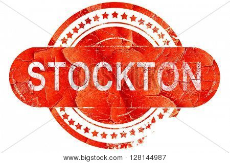 stockton, vintage old stamp with rough lines and edges