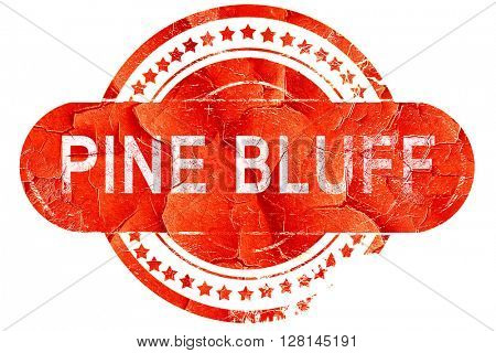 pine bluff, vintage old stamp with rough lines and edges