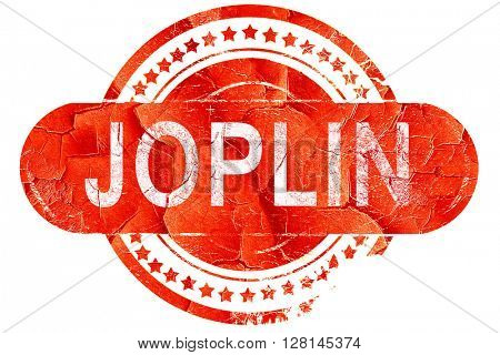 joplin, vintage old stamp with rough lines and edges