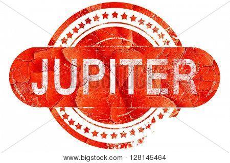 jupiter, vintage old stamp with rough lines and edges