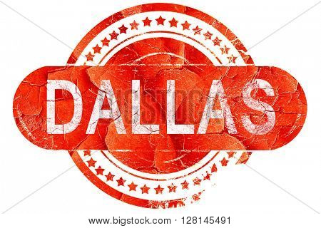 dallas, vintage old stamp with rough lines and edges