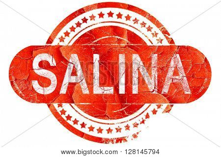 salina, vintage old stamp with rough lines and edges