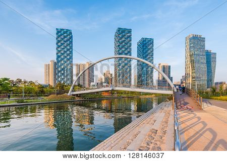 Incheon,central Park In Songdo International Business District , South Korea