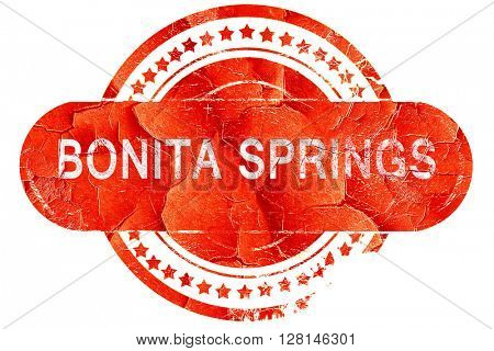 bonita springs, vintage old stamp with rough lines and edges