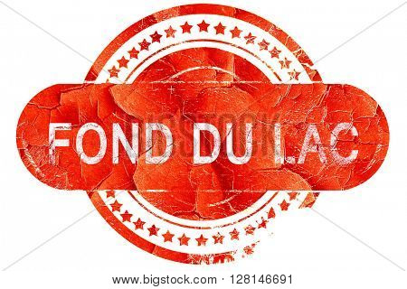 fond du lac, vintage old stamp with rough lines and edges