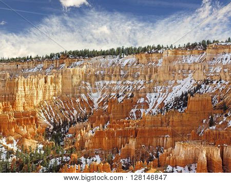 scenic view of colorful pinnacles in the Bryce Canyon