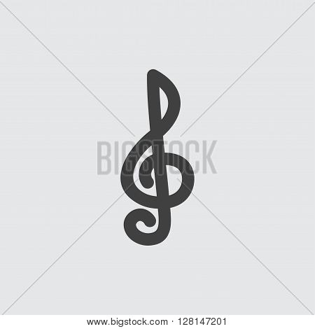 Treble clef icon illustration isolated vector sign symbol