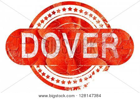 dover, vintage old stamp with rough lines and edges