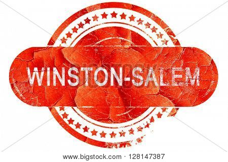winston-salem, vintage old stamp with rough lines and edges