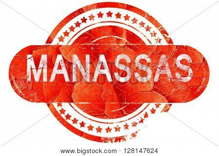 manassas, vintage old stamp with rough lines and edges