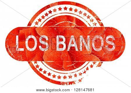 los banos, vintage old stamp with rough lines and edges
