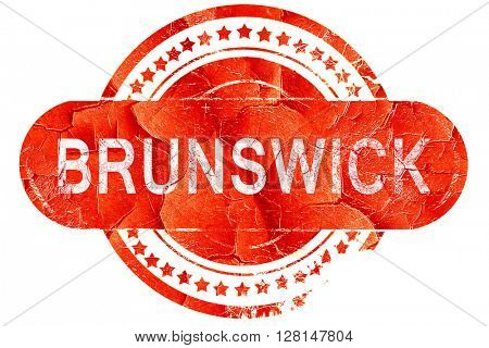 brunswick, vintage old stamp with rough lines and edges