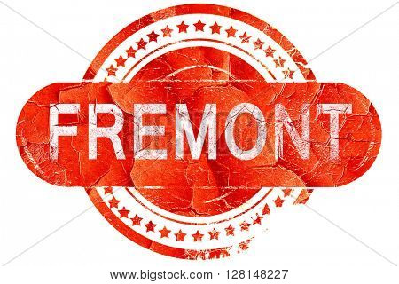 fremont, vintage old stamp with rough lines and edges
