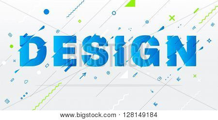 Abstract Typographic Vector Illustration. Design Concept. Liquid Letters.
