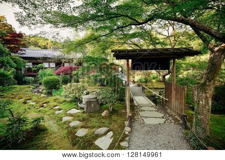 A tea house in Kyoto in Japan.