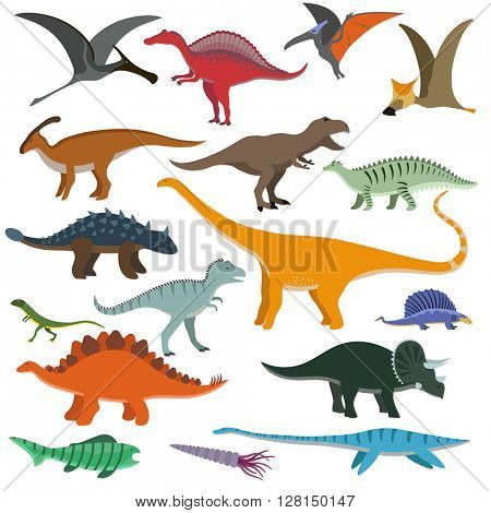 Cartoon Dinosaurs vector illustration.