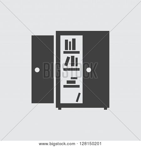 Bookcase icon illustration isolated vector sign symbol