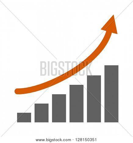 Top graph vector illustration.