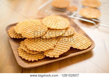 Crispy homemade Pizzelle