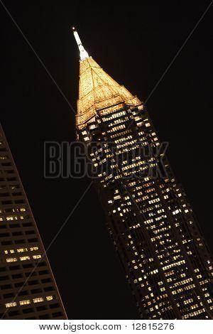 Nightscape of Atlanta, Georgia buildings.