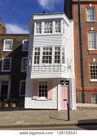 LONDON - APRIL 26: Unique architecture on Church Row on April 26, 2016 in Hampstead, London, UK.