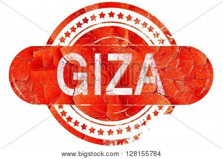 giza, vintage old stamp with rough lines and edges