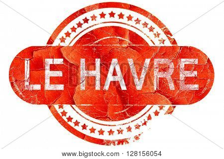 le havre, vintage old stamp with rough lines and edges