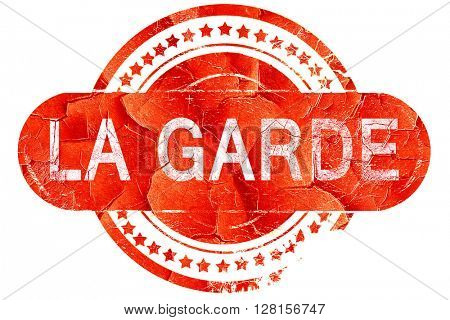 la garde, vintage old stamp with rough lines and edges