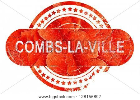 combs-la-ville, vintage old stamp with rough lines and edges