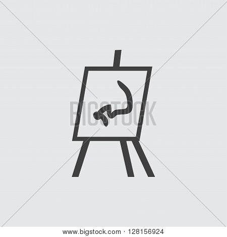 Flipchart icon illustration isolated vector sign symbol