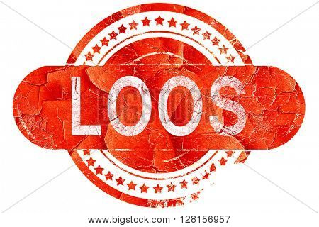 loos, vintage old stamp with rough lines and edges