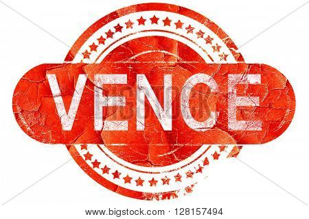 vence, vintage old stamp with rough lines and edges